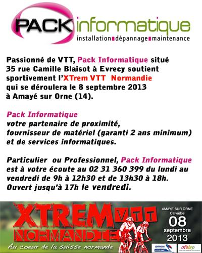 Pack Informatique Evrecy partenaire de l'Xtrem VTT Normandie
