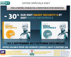 Offre Antivirus Rentrée 2013