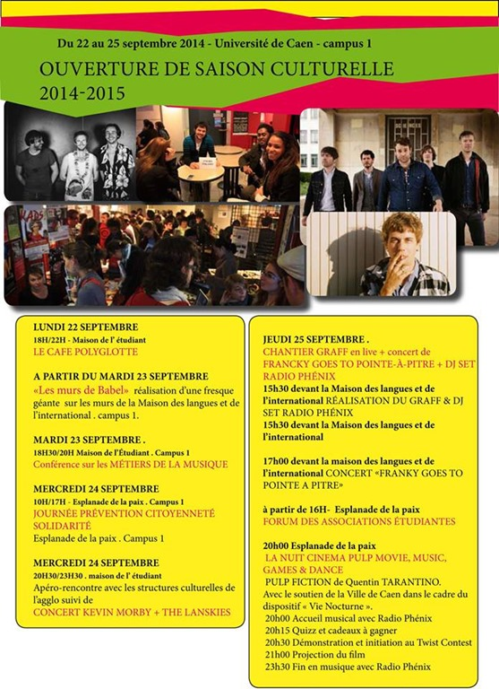 Caen savez vous 2014 septembre 22 for Maison de l etudiant caen